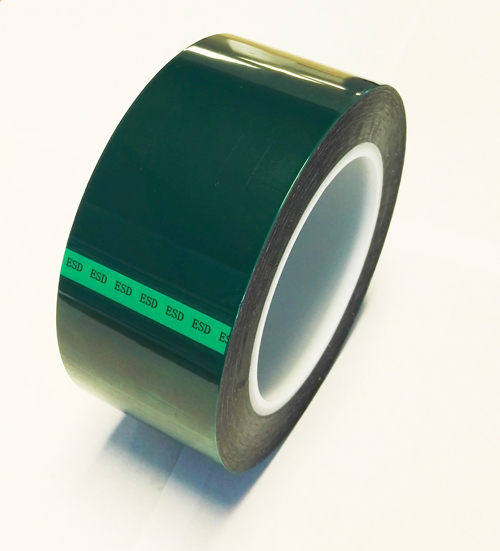 anti static green polyester tape