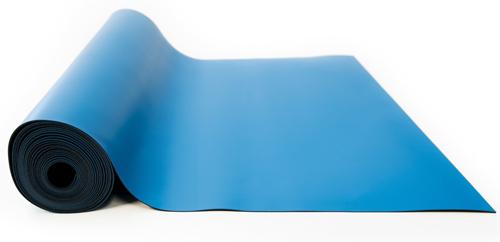 anti static rubber mat roll blue
