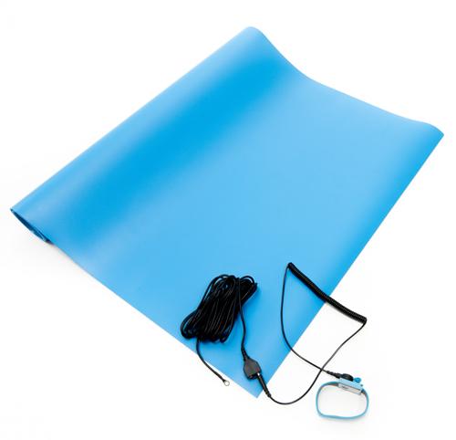 blue anti static vinyl mat kit