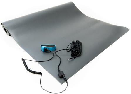 gray anti static vinyl mat kit