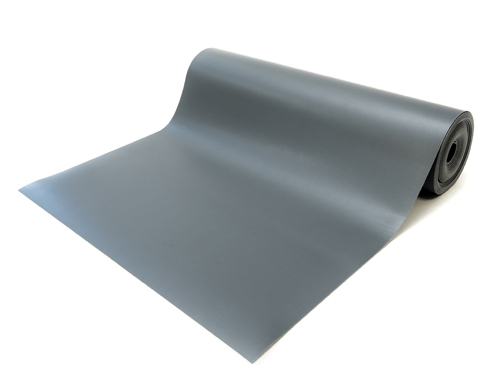 anti static vinyl mat roll gray